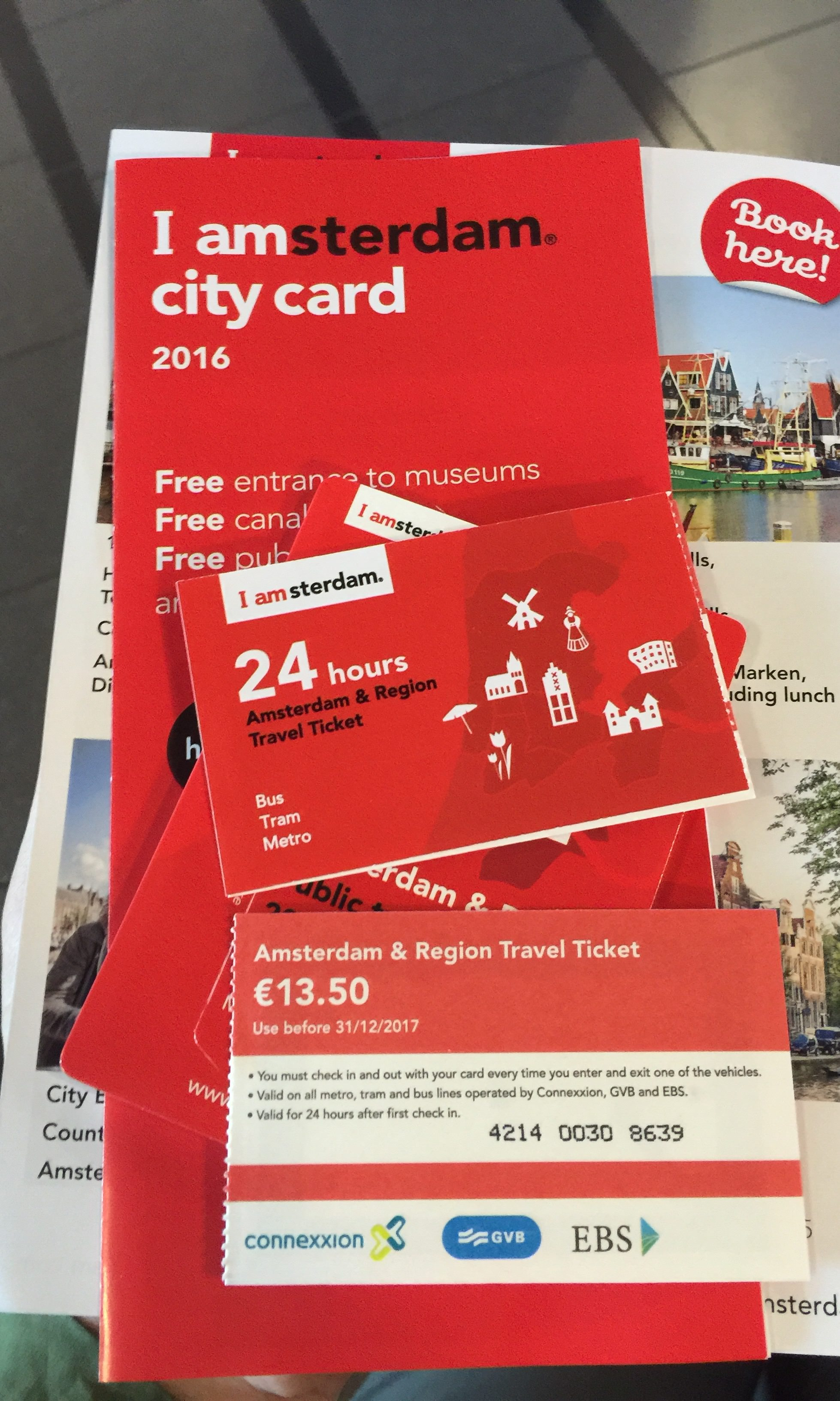 荷蘭 | 買 Amsterdam & Region Travel Ticket 玩阿姆斯特丹市區與近郊