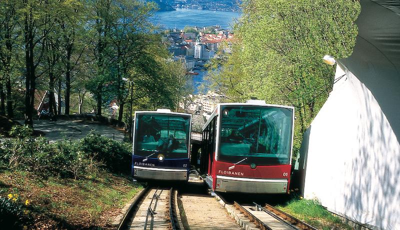 挪威 | 2022搭全新弗洛伊恩纜車Floibanan眺望卑爾根市景
