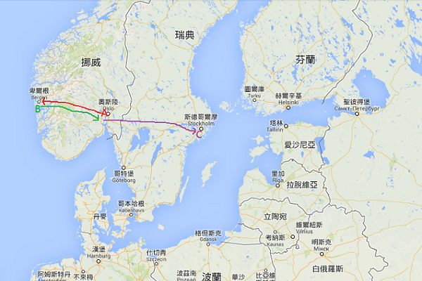 北歐地圖1